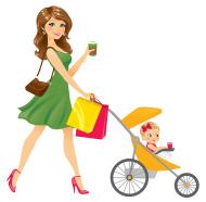 stock-illustration-22465373-mom-walking-baby-in-stroller