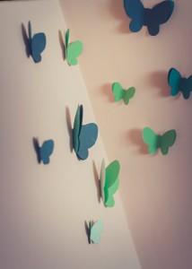 Fluturi pe pereti