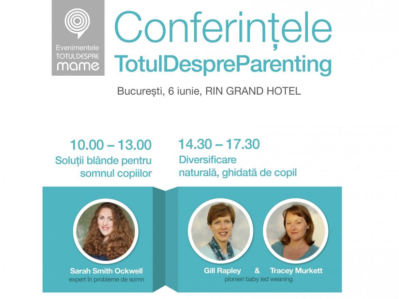 Conferinte despre somnului bebelusilor si diversificare naturala