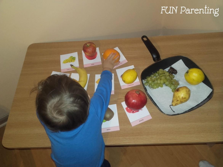 Carduri cu fructe si legume-colaj