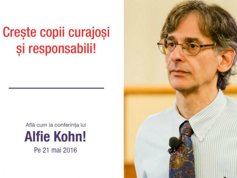 Alfie Kohn sustine din nou o conferinta in Romania