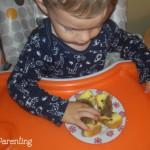 Pandispan cu fructe confiate si carob