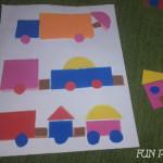 Construieste camioane cu forme geometrice
