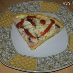 Omleto-Pizza gata in 10 minute