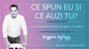 """""""Ce spun eu și ce auzi tu"""" cu Gaspar Gyorgy voucher de reducere (carti)"""