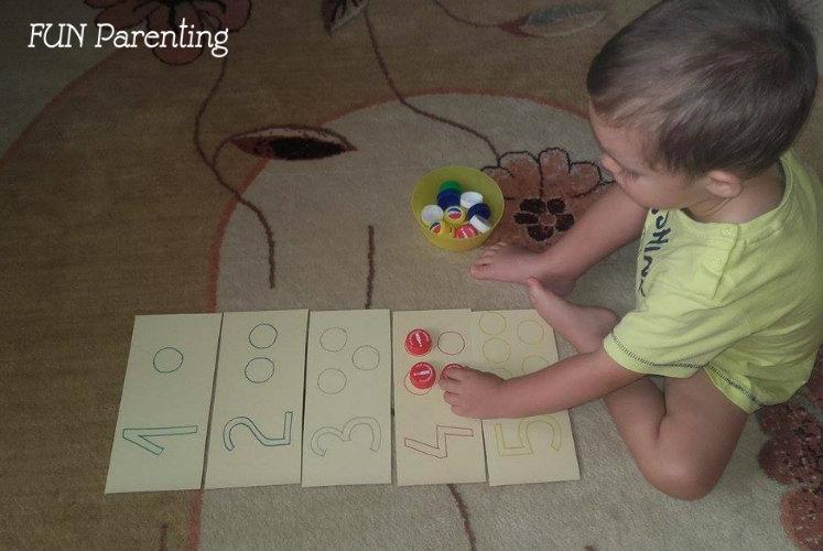 3 idei simple sa inveti copilul numerele1