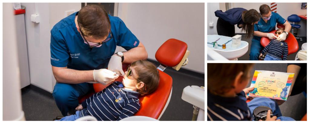 Copilul cu dintii grebla si periuta lui de dinti1