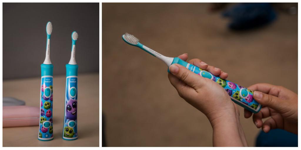 Copilul cu dintii grebla si periuta lui de dinti2