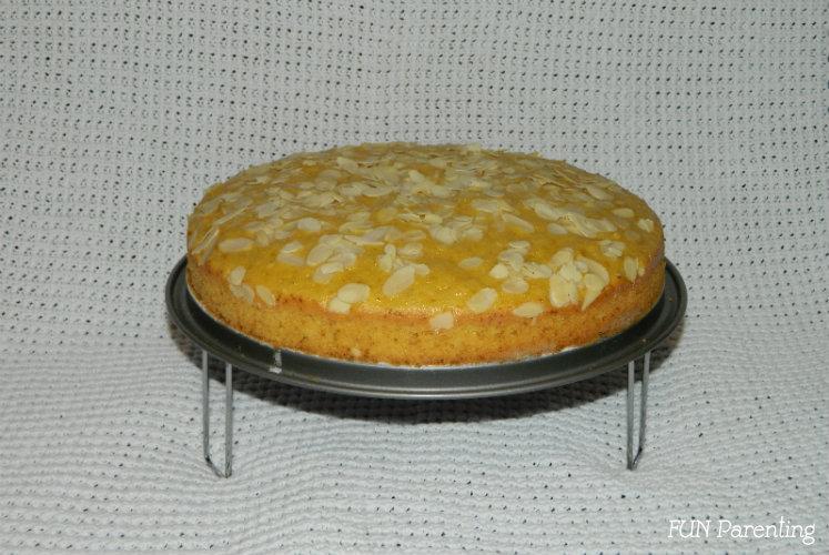 Prajitura cu portocale si fulgi de migdale (2)