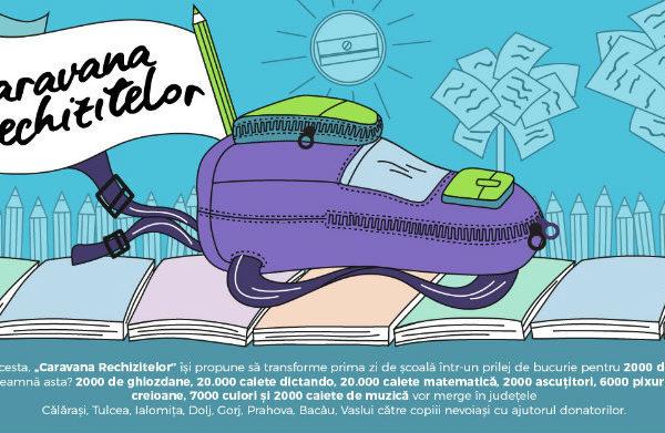 Caravana Rechizitelor aduce un ghiozdan pentru fiecare copil – Asociatia Hai sa Ajutam