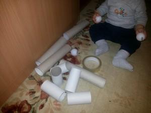 Tunel cu mingi pentru copii