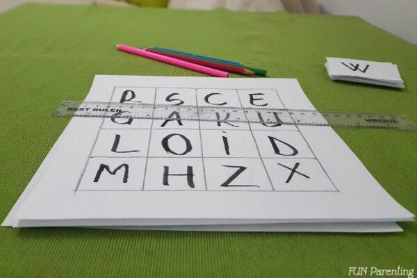 Joc BINGO pentru învățarea literelor